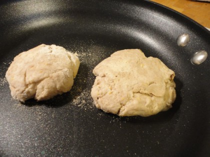 gluten free vegan sourdough English muffins cooking