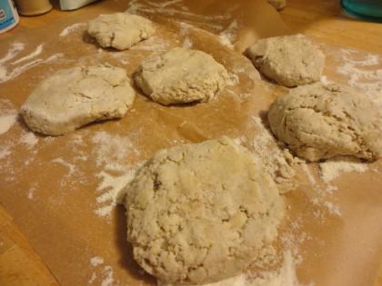 gluten free sourdough muffins before cooking