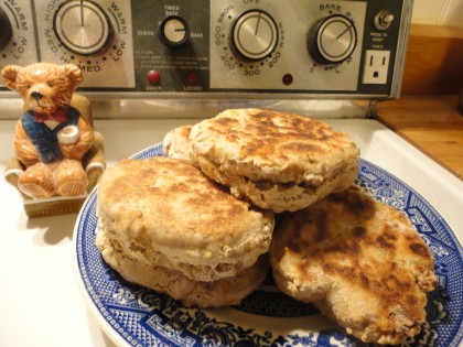 Gluten Free Vegan Sourdough English  Muffins