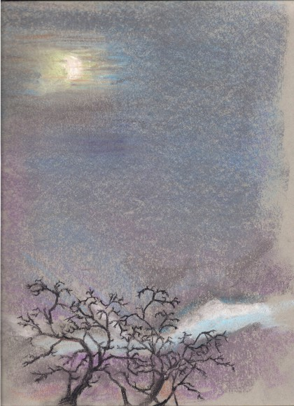 """Winter Twilight"" chalk pastel by Maria Theresa Maggi"
