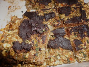Oat Bars with Orange, Kale and Carob