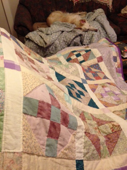 hand made quilt by Maria Theresa Maggi