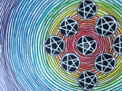 Wild Unknown 10 of Pentacles detail