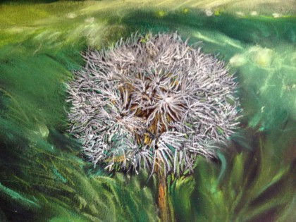 """Going to Seed"" orginal chalk pastel by Maria Theresa Maggi"