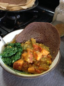 Fusion Red Lentil Stew and Injera 2