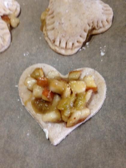 pear heart pocket filling