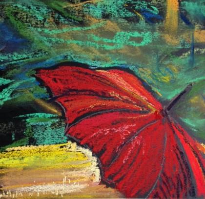 chalk pastel by Maria Theresa Maggi