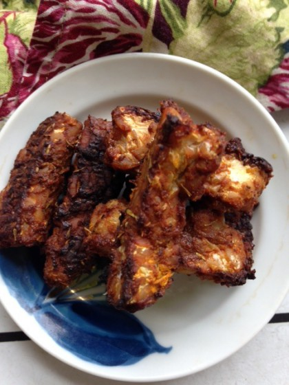 Tempeh Sticks with Mustard Marinade