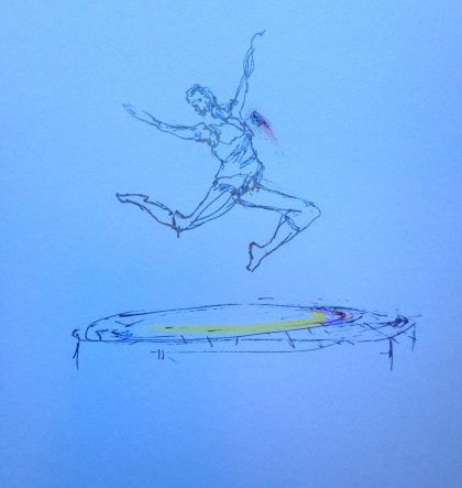 jumper on trampoline sketch by MTM