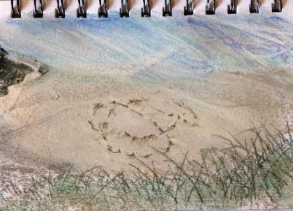 Cotton's Signature, pastel memory sketch by Maria Theresa Maggi