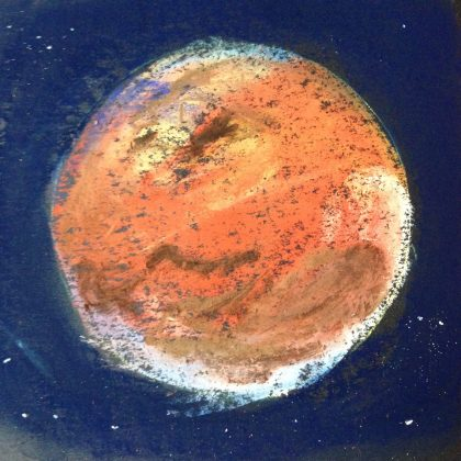 """The Red Planet,"" chalk pastel by Maria Theresa Maggi"