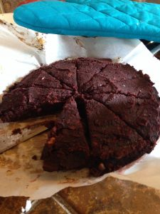 Can't Be Beet Black Bean Brownie Wedges
