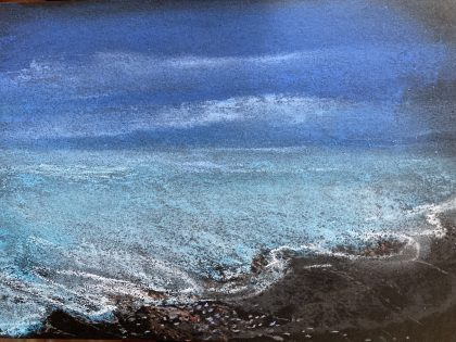 """Land, Sea, Sky,"" chalk pastel by Maria Theresa Maggi"