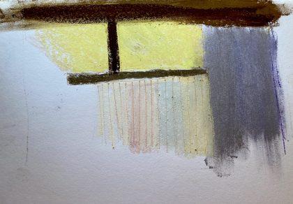 """Golden Light,"" chalk pastel sketch by Maria Theresa Maggi"
